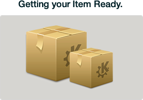 Getting your item ready